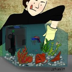 28 nov 09 (carciofocontento) Tags: selfportrait outfit comic drawing autoritratto sketches ritratto disegno caricatura schizzo personaggio characted