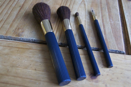 Estee Lauder Brushes. 4 Deluxe Makeup Brushes (Powder, Blush, Eye and Lip)
