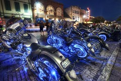 The Harleyfest on 6th Street - Do People See the World Differently? (Stuck in Customs) Tags: travel blue usa color festival digital america austin photography blog high cool nikon neon glow texas ride dynamic stuck expo united rally north azure illumination surreal harley riding chrome photograph american cycle harleydavidson motorcycle biker imaging states top100 fest hog davidson range hdr trey travelblog customs ratcliff harleyfest stuckincustoms d3x