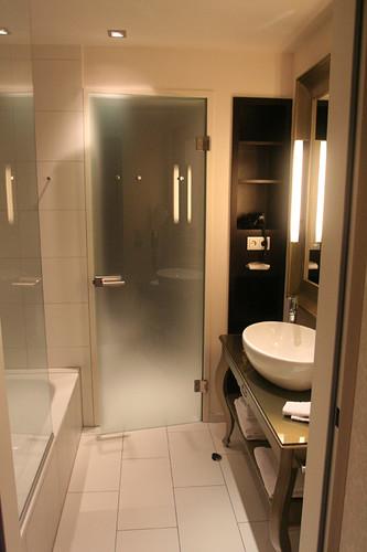 bathroom at Hotel Herrenhof