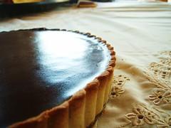 chocolate crunched caramel tart - 30