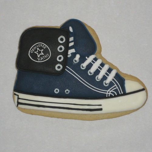 Converse shoe cookie