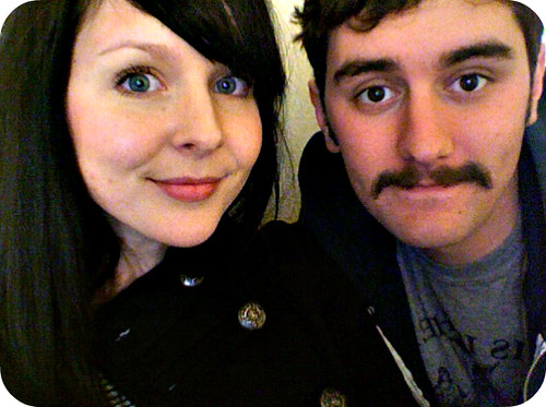 came home from work to find a newly beardless, mustached husband!