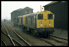 A Deuce of Choppers (JohnGreyTurner) Tags: uk england train chopper br diesel derbyshire transport engine rail railway locomotive 20 chesterfield type1 englishelectric class20