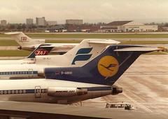 D-ABHI Boeing 727-230 Lufthansa (eigjb) Tags: london classic portugal digital plane airplane airport heathrow aircraft aviation air scan september pre boeing tap airlines 1980 230 lufthansa spotting airliner lhr 727 dc9 icelandair jat b727 yugoslav egll dabhi yuajl tffli