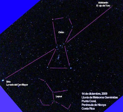 Fotografía del cielo tomada en Punta Coral