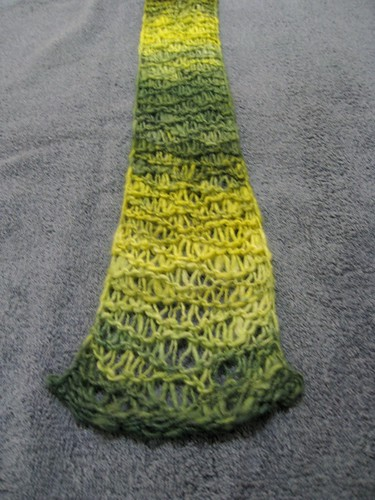Inara scarf: before blocking