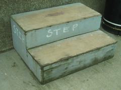 Whitstable - step (Dubris) Tags: england sign grey kent seaside gray step whitstable selfevident