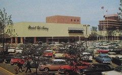 Vintage Postcard Photo 1960s MARSHALL FIELDS Shopping Mall Skokie Illinois (Christian Montone) Tags: illinois americana 1960s marshallfields skokie vintagephotos vintagepostcards vintageamericana vintagedepartmentstores