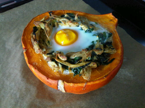 Chicken stuffed pumpkin
