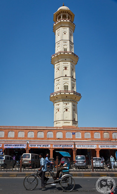Rickshaw In Front Of Minaret
