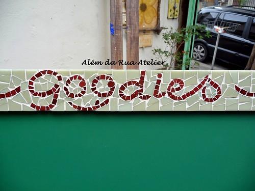 Lousa Personalizada com moldura em mosaico