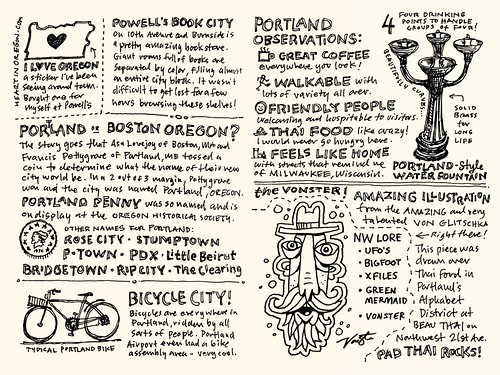 Portland Sketchnote Travelogue: 03-04