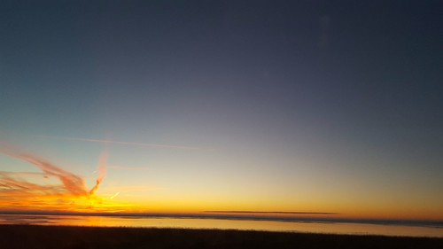 Sunrise winter Oostvaardersdijk Lelystad