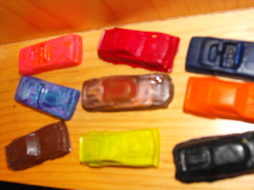 Los carros de crayola