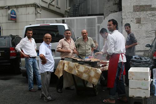 Our Van Blocked in By BBQ, Karaköy