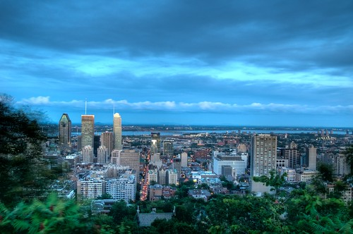 Downtown Montreal during Blue Hour from Mont-Royal (HDR)