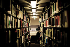 Knowledge (Marios Tziortzis) Tags: uk light red england brown white 50mm book student university floor library perspective corridor books center surrey ceiling knowledge guildford 1337 bookworm 8c319f28d81d1527a9428e9a5c2195f5