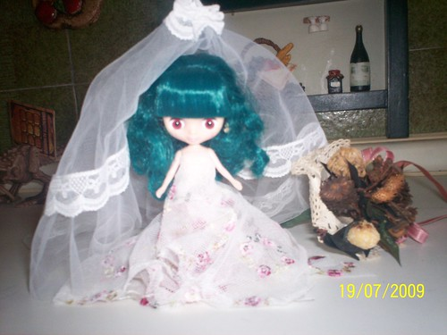 EDELWEISS dress Bride (Petite Blythe Princess à la mode)