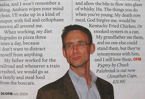 Chuck Palahniuk's Chicken Face