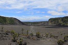 Looking back at the crater floor