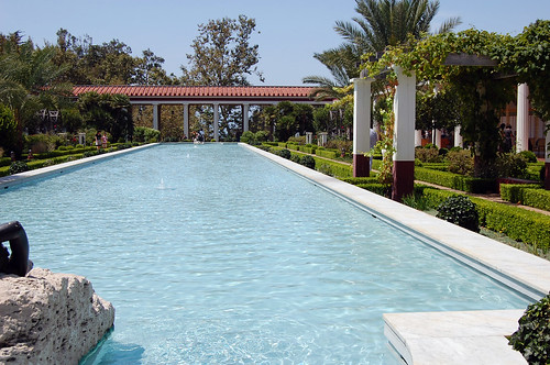 getty villa - pool