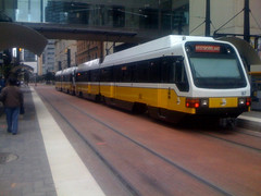 DART rolls through downtown Dallas (by: William Addington, creative commons license)