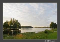 landscape - savonlinna (harrypwt) Tags: sea summer lake reflection green landscape framed 18200 savonlinna pastorale 40d harrypwt
