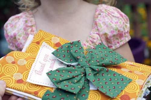 Z&S Fabrics does such a cute (and green) job of packaging
