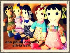 lindinhas conversando... hora do caf!!! (AP.CAVALARI / ANA PAULA) Tags: toy dolls handmade fabric boneca tecido feitoamo fabricdolls bonecadetecido anapaulacavalari apcavalari