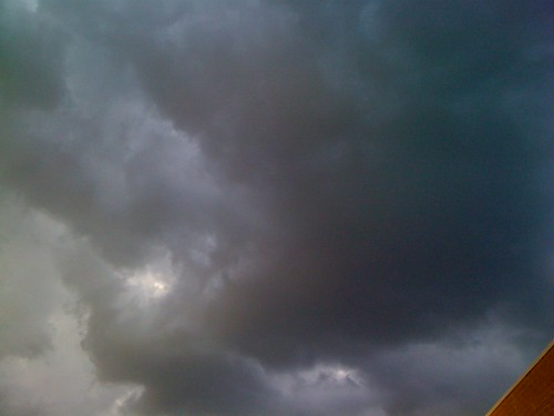 Ominous Pre-Rainbow Storm Clouds