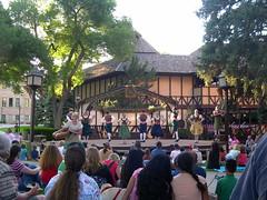 "Ye olde Adams Shakespearean Theater, Cedar City, Utah: ""The Green Show"", pre-performance entertainment outside the theatre (John Steedman) Tags: city usa america utah unitedstates adams unitedstatesofamerica northamerica estadosunidos shakespearean  norteamrica nordamerika amriquedunord amricadelnorte    theatercedar"
