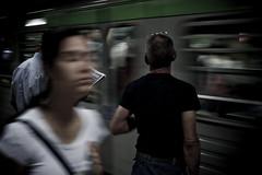 Oneiric rush [Commuters] (Luca Napoli [lucanapoli.altervista.org]) Tags: street milan lumix candid milano urbanjungle commuters reportage pendolari mm2 urbanmood lx3 lumixaward panasoniclx3 lucanapoli lx3street lumixstreet oneiricrush subwaymilan commuterloneliness