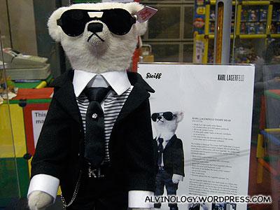 Karl Lagerfield bear