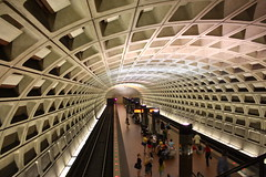 Washington DC, Metro (Fotis Korkokios) Tags: usa america train underground subway concrete washingtondc metro unitedstatesofamerica transport tube urbandesign urbantransport modernarchitecture metrostation vaultedceiling washingtonmetro urbanarchitecture rapidtransitsystem harryweese brutalistdesign canon450d fostis canoneosdigitalrebelxsi fotiskorkokios