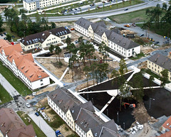 Construction nears completion on Grafenwoehr 600 Area site (USACE Europe District) Tags: aerial ebg usarmycorpsofengineers grafenwoehr grafenwohr militaryconstruction milcon europedistrict efficientbasinggrafenwoehr