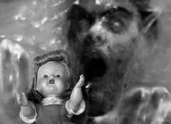 The Nightmare (ricko) Tags: bw poster doll deleteme10 nightmare theblob