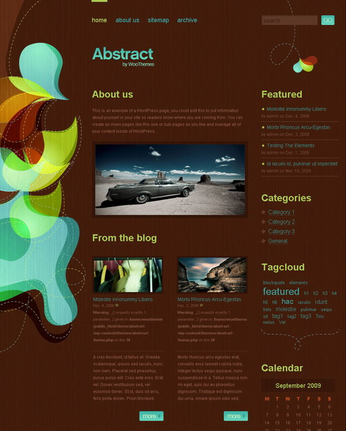 Abstract v2.0   WooThemes Premium Wordpress Theme