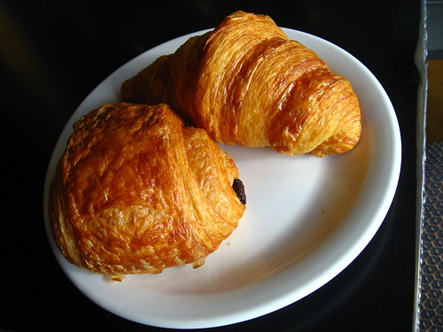 The two mainstays: a croissant and a pain au chocolat. I give the pastry edge to the croissant. As good as Tartine? I give the edge to Tartines glossy-brown surface, but only the very slightest edge!
