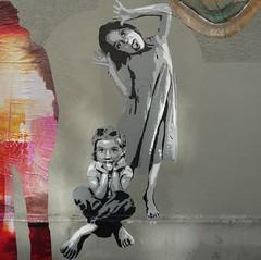 Rue-stick #3 (detail) (nder) Tags: street urban streetart paris france pasteup art collage de calle stencil europe strada arte ile di urbana rue franais array urbain artiste pochoir ender ruestick