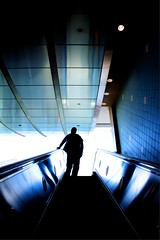 out of this world (Andy Kennelly) Tags: california light up silhouette architecture losangeles los bright angeles escalator blues highland hollywood hollywoodblvd kodaktheater kennelly ajax8055
