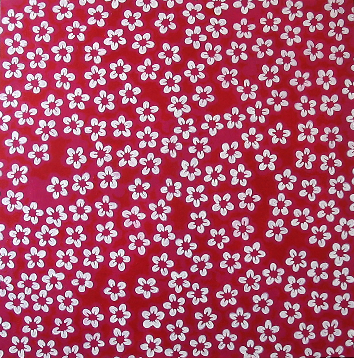 Pink Pattern, Acrylic on Canvas, 76cm x 76cm by Robin Clare