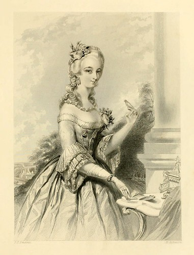 019-Señora de la corte de Luis XV-The gallery of engravings (Volume 1) 1848