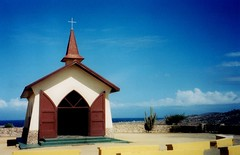 Chapel of Alto Vista - Aruba (i need my blankie) Tags: door blue 2002 sky church religious open cross fb scenic chapel aruba fb2 altovista fbflickr friendlychallenges friendlychallenge thepinnaclehof storybookwinner pregamewinner storybookttwwinner tphofweek97 tpsthouseofworship5811