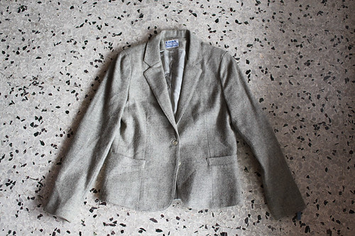 retro 80s Katie's grey jacket! $9