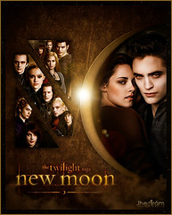 The Twilight Saga New Moon (Jhess Armburo.com) Tags: new original moon motion black robert collage photoshop movie poster dawn book design eclipse video twilight graphics wolf nikki j
