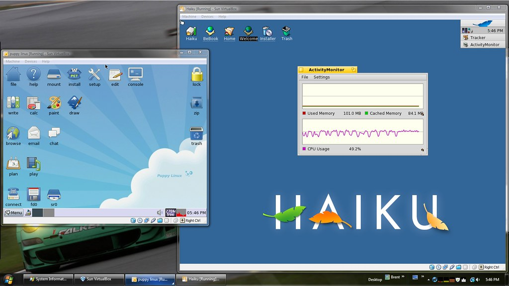 Haiku & Puppy Linux