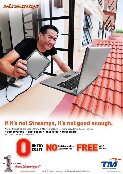 TMnet Streamyx Advertisement vs P1 Wimax