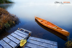 Le repos du silence! (Imapix) Tags: lake canada art nature hat canon photography photo foto photographie quebec paddle lac calm canoe