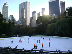 Central Park Rink (Jordan_M) Tags: nyc newyorkcity trees newyork buildings centralpark iceskating skating peopleskating